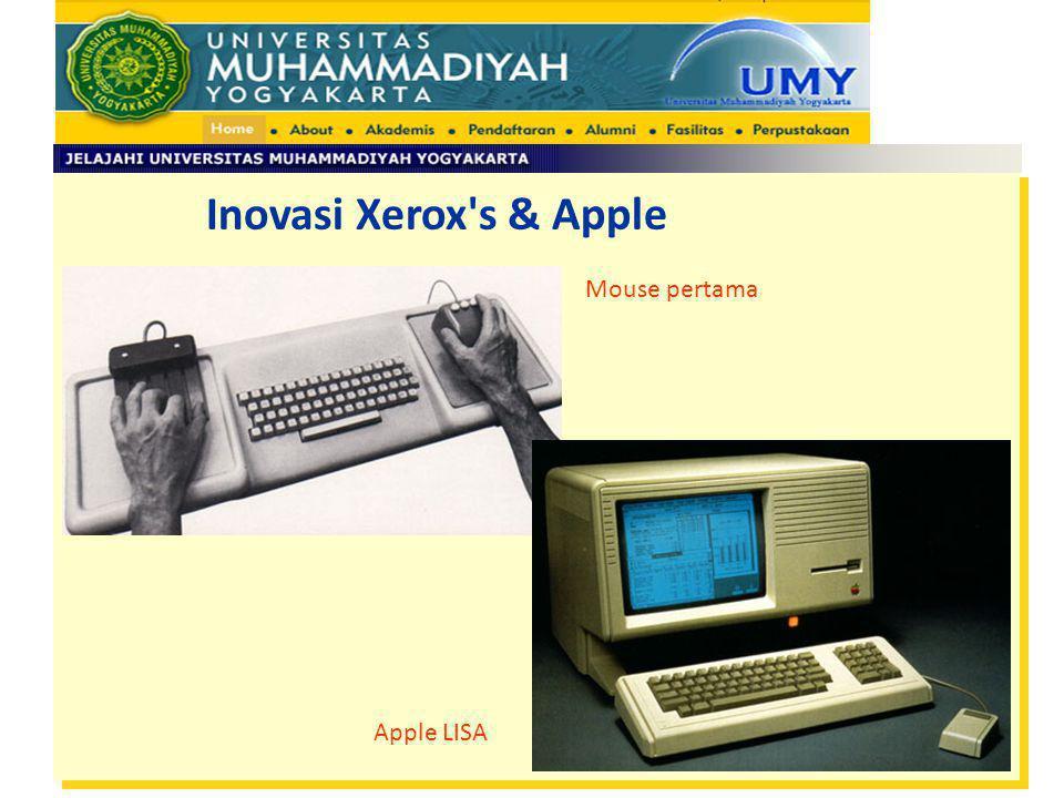 Inovasi Xerox's & Apple Mouse pertama Apple LISA
