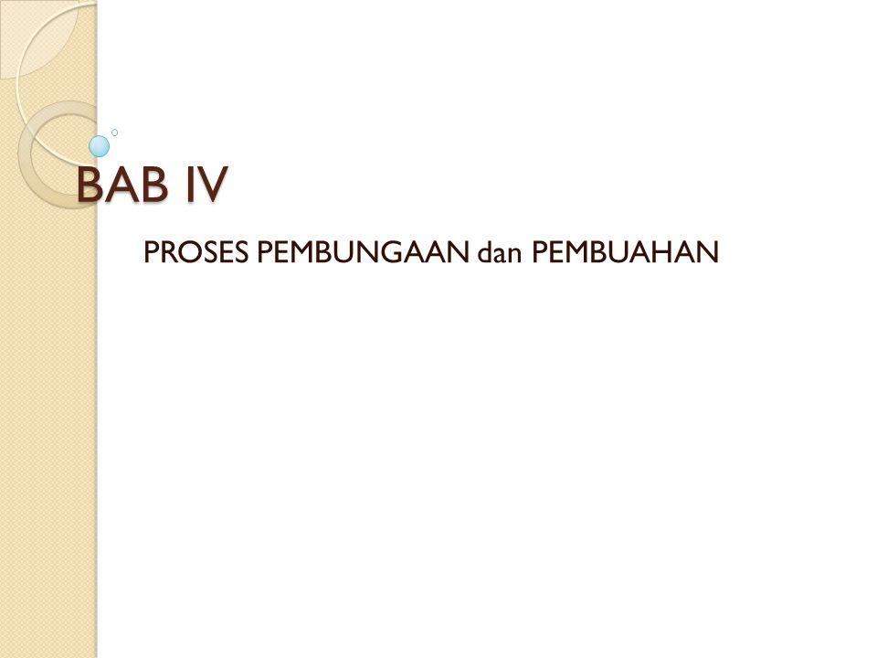 BAB IV PROSES PEMBUNGAAN dan PEMBUAHAN