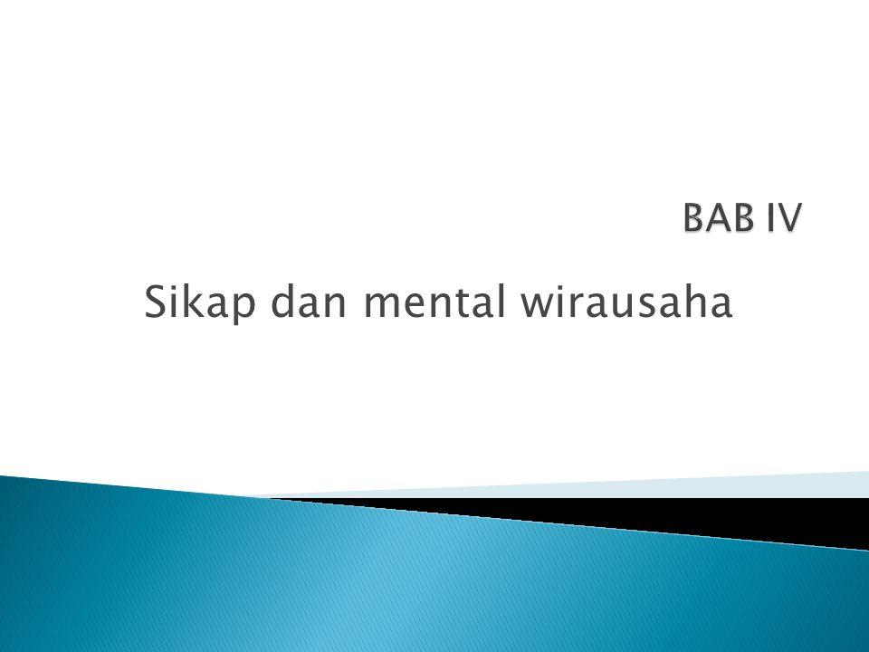 Sikap dan mental wirausaha