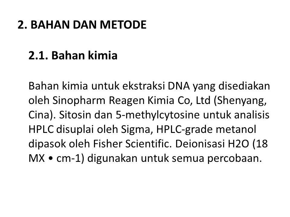 2. BAHAN DAN METODE 2.1.