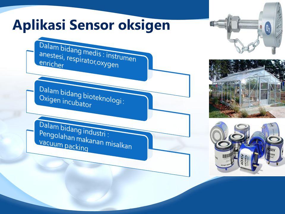 Aplikasi Sensor oksigen