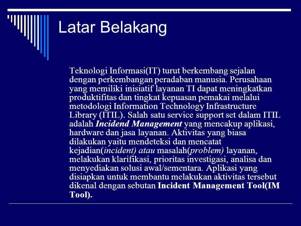 Latar Belakang Teknologi Informasi(IT) turut berkembang sejalan dengan perkembangan peradaban manusia.