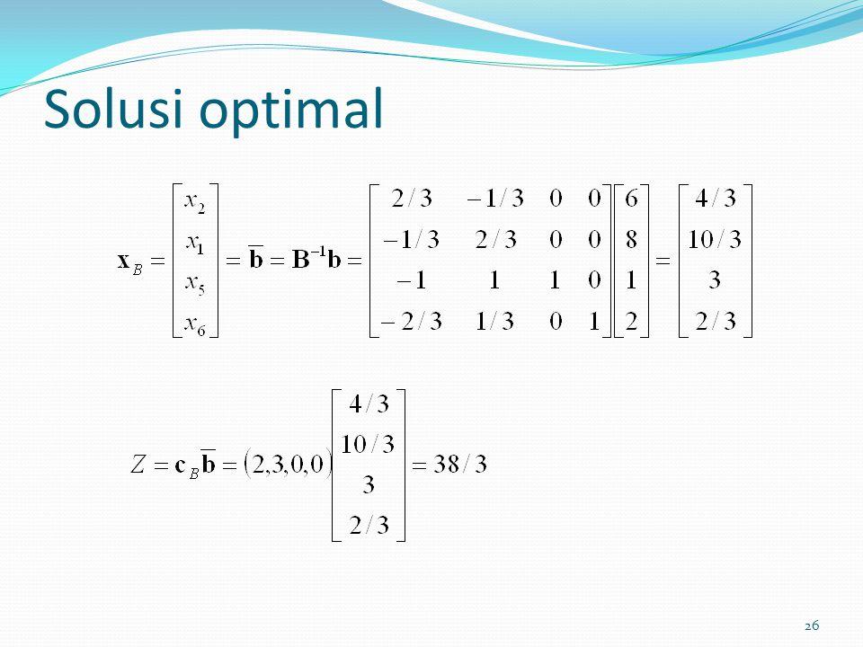 26 Solusi optimal