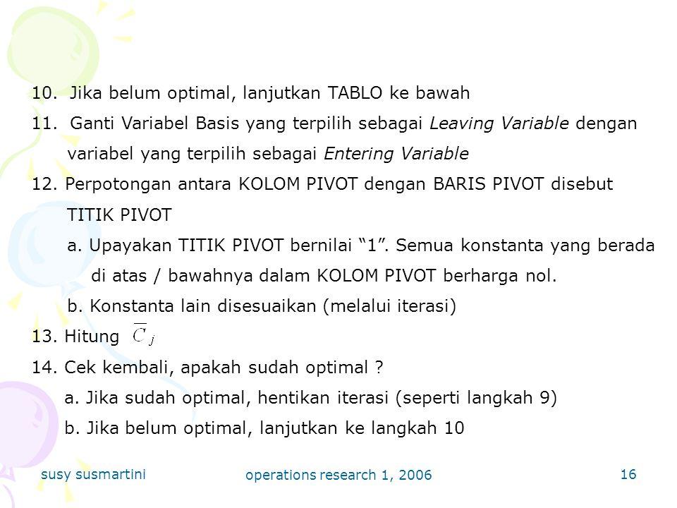 susy susmartini operations research 1, 2006 16 10.