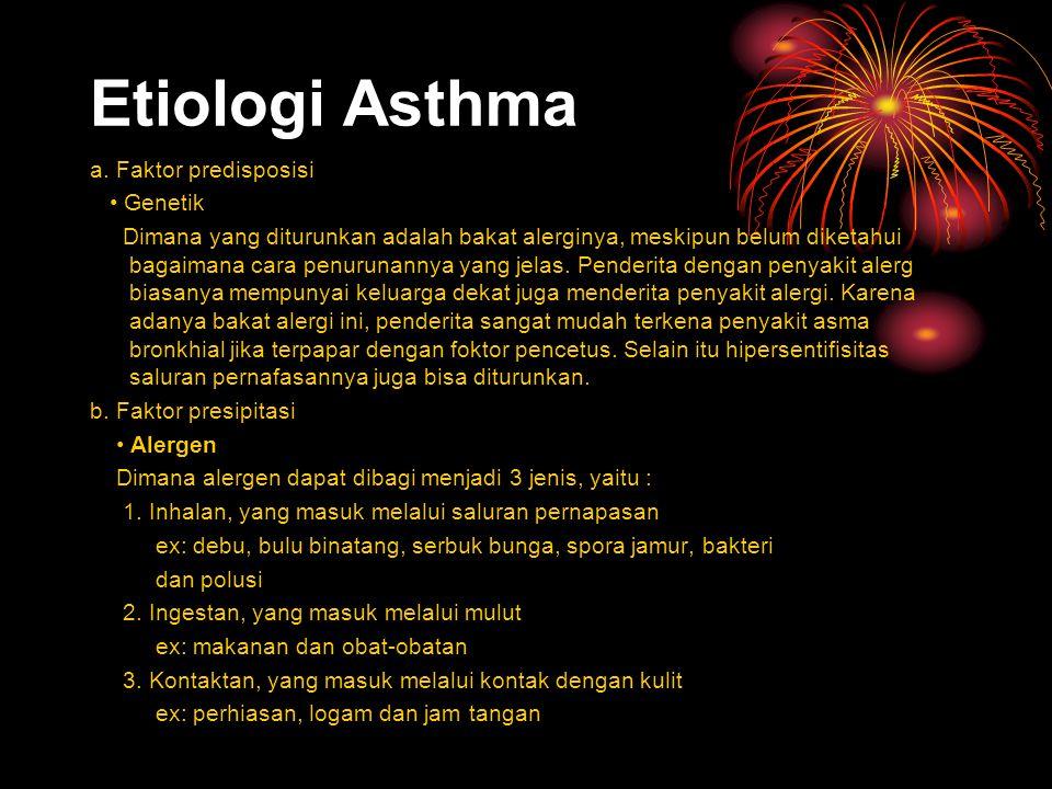 Etiologi Asthma a.
