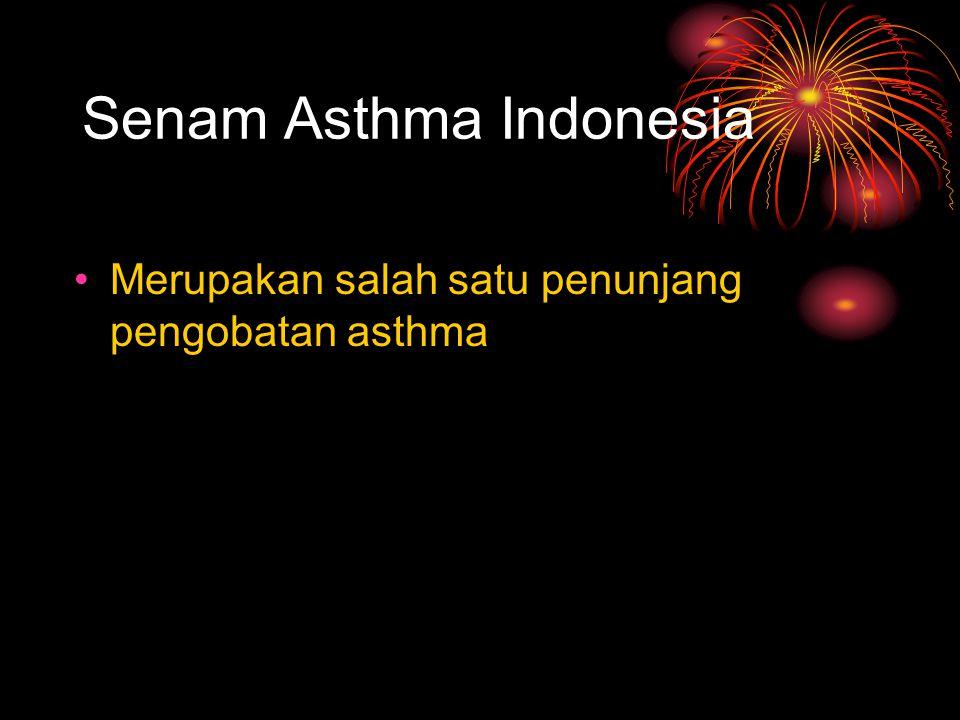 Senam Asthma Indonesia Merupakan salah satu penunjang pengobatan asthma