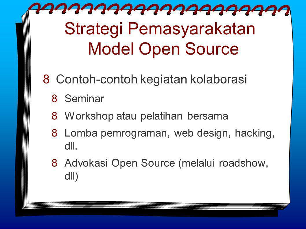  Contoh-contoh kegiatan kolaborasi  Seminar  Workshop atau pelatihan bersama  Lomba pemrograman, web design, hacking, dll.