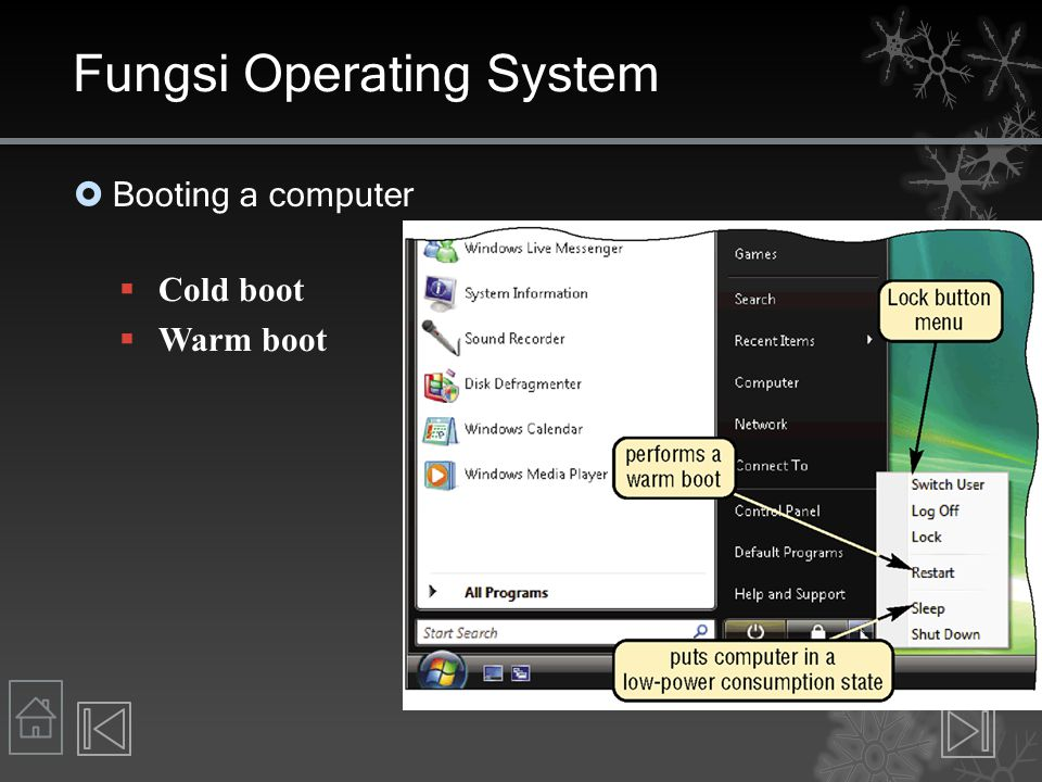 Operating Systems Tertanam  Mobile computers, PDAs, and other small devices  Windows Embedded CE adalah versi dari Windows skala bawah  Windows Mobile untuk Pocket PC  Palm OS untuk Palm  Blackberry OS (Access corporate email!)  Embedded Linux  Symbian OS untuk smart phones