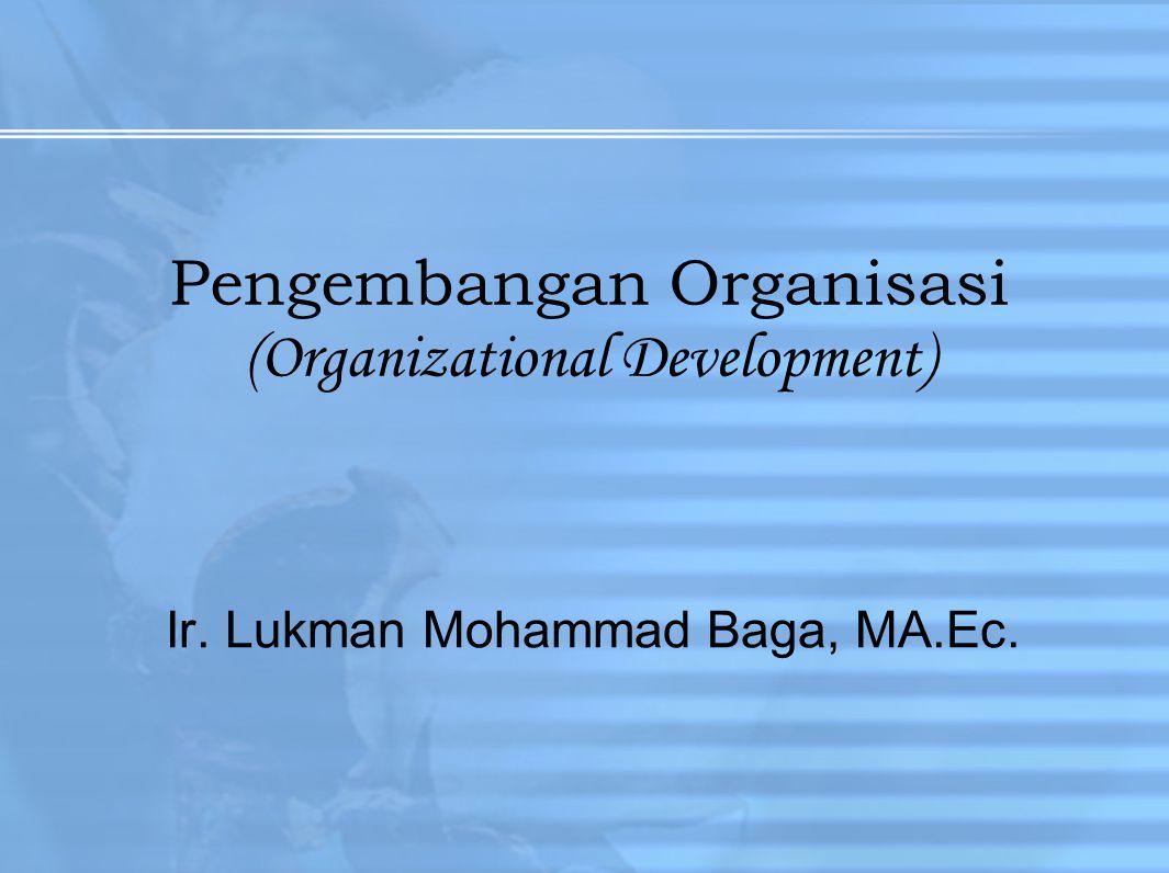 Pengembangan Organisasi (Organizational Development) Ir. Lukman Mohammad Baga, MA.Ec.