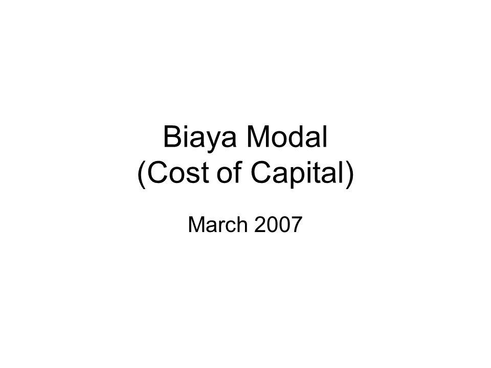 Biaya Hutang Notes: Penggunaan hutang sebagai modal, menurunkan penghasilan yg dikenai pajak karena bunga yg harus dibayar.