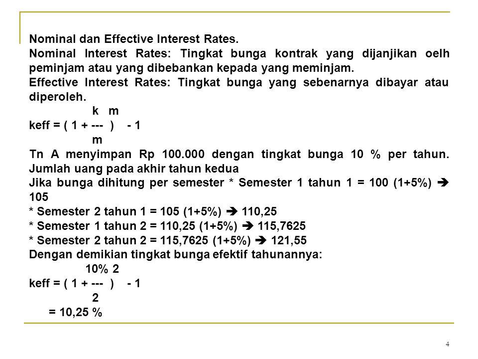 4 Nominal dan Effective Interest Rates.