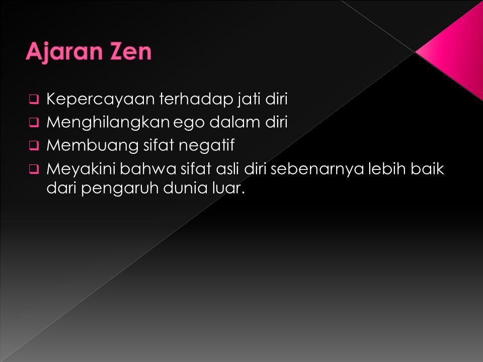 Zen mempunyai pengaruh yang besar dalam upacara minum teh.