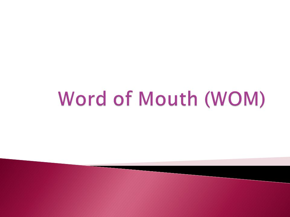  word of mouth promotion describes people talking to each other about their experiences us consumers (Joseph D Fridget.
