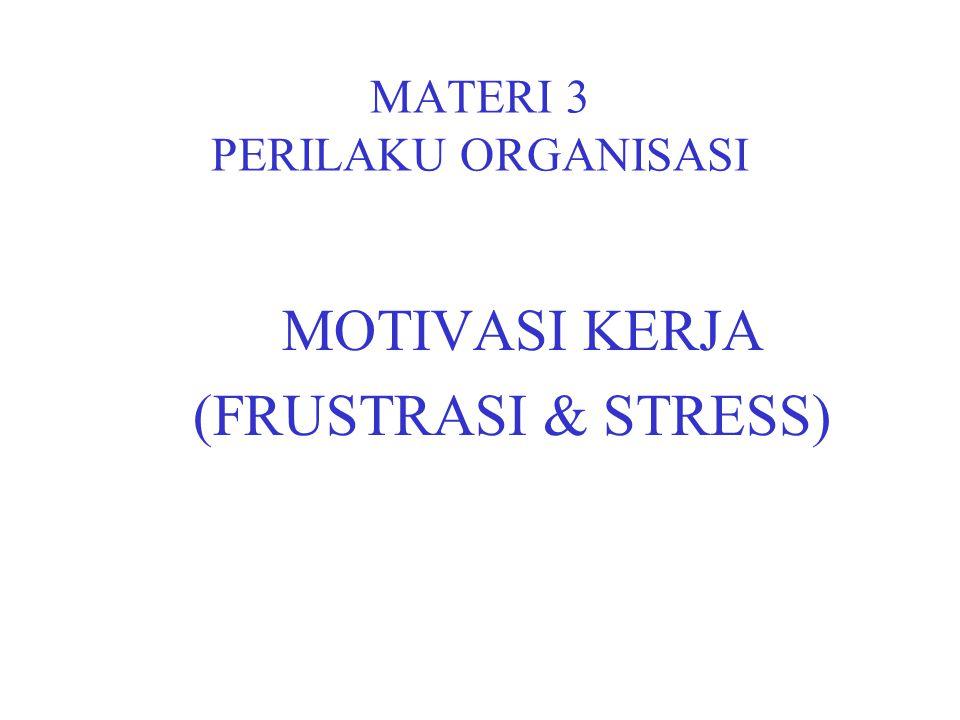 MATERI 3 PERILAKU ORGANISASI MOTIVASI KERJA (FRUSTRASI & STRESS)