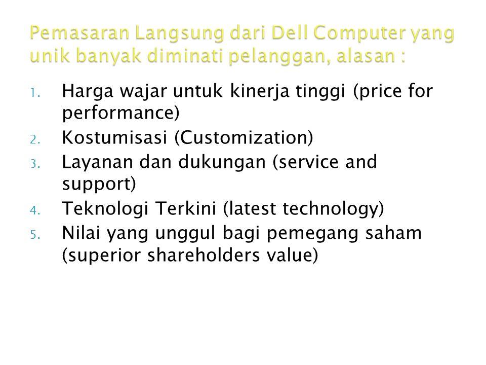 1. Harga wajar untuk kinerja tinggi (price for performance) 2. Kostumisasi (Customization) 3. Layanan dan dukungan (service and support) 4. Teknologi