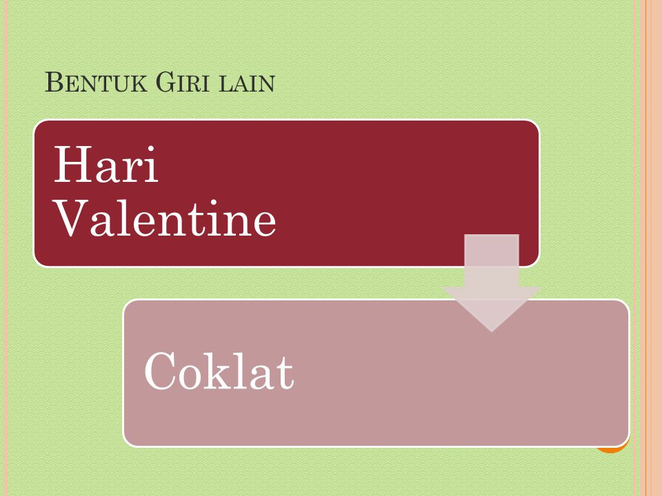 B ENTUK G IRI LAIN Hari Valentine Coklat