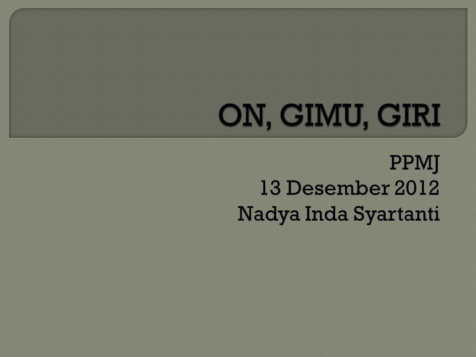 PPMJ 13 Desember 2012 Nadya Inda Syartanti