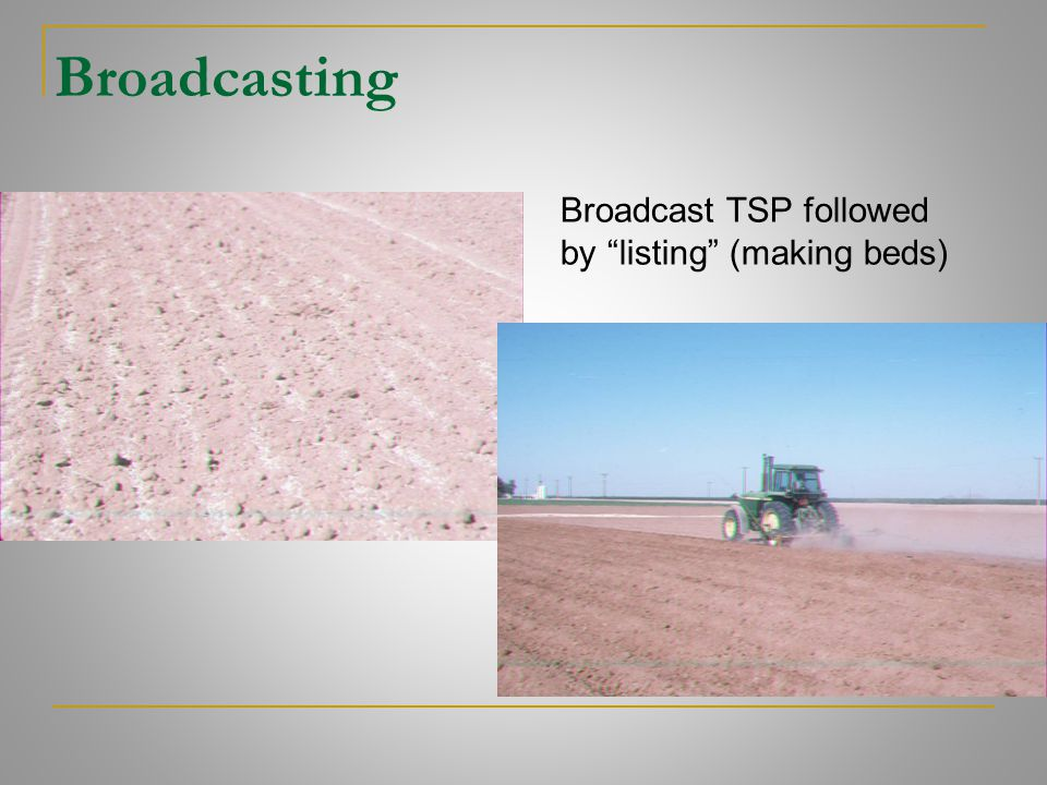 "Broadcasting Broadcast TSP followed by ""listing"" (making beds)"