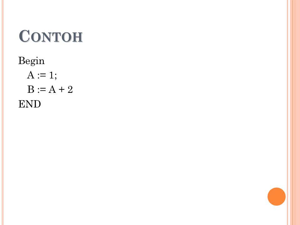 C ONTOH Begin A := 1; B := A + 2 END