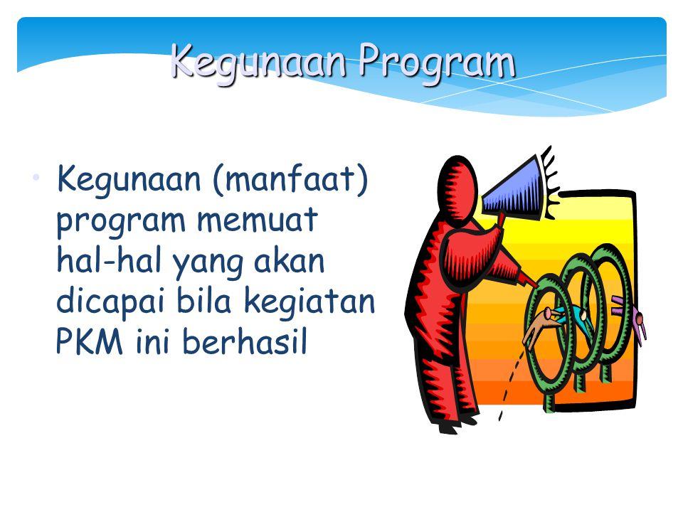 Luaran yang diharapkan adalah harapan terhadap hasil PKM, misal berupa: a. Pengembangan teori atau teori baru b. Inovasi teknologi c. Prototipe Luaran