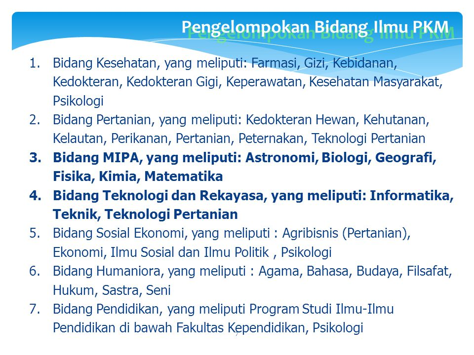 BIDANG DAN MUARA KEGIATAN PKM 1PIMNAS 2E-Proceeding 3E-Journal 4 Jurnal Ilmiah Terakreditasi 1.PKM-P 2.PKM-T 3.PKM-K 4.PKM-M 5.PKM-KC 6.PKM-GT 7.PKM-A