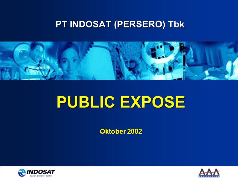 PT INDOSAT (PERSERO) Tbk PUBLIC EXPOSE Oktober 2002