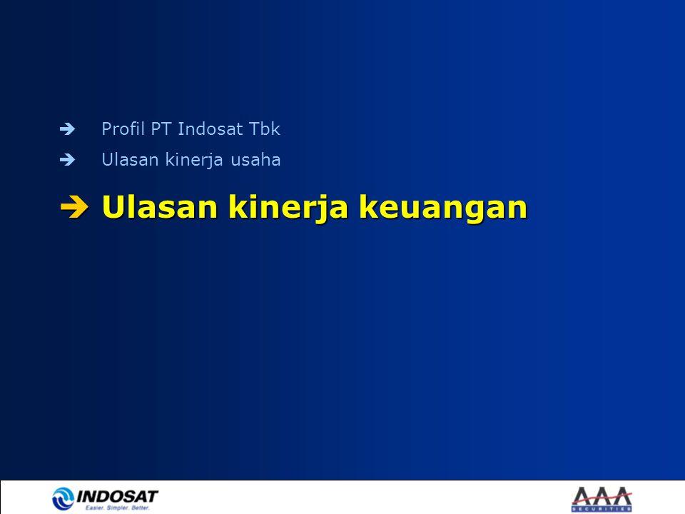  Profil PT Indosat Tbk  Ulasan kinerja usaha  Ulasan kinerja keuangan
