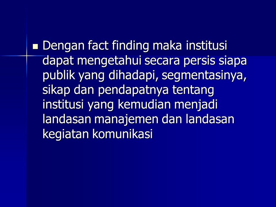 Proses Fact finding 1.