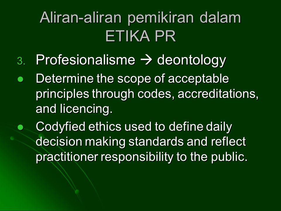 Aliran-aliran pemikiran dalam ETIKA PR 3.