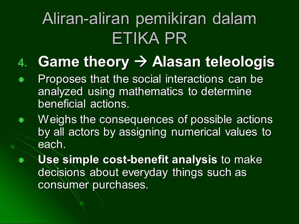 Aliran-aliran pemikiran dalam ETIKA PR 4.