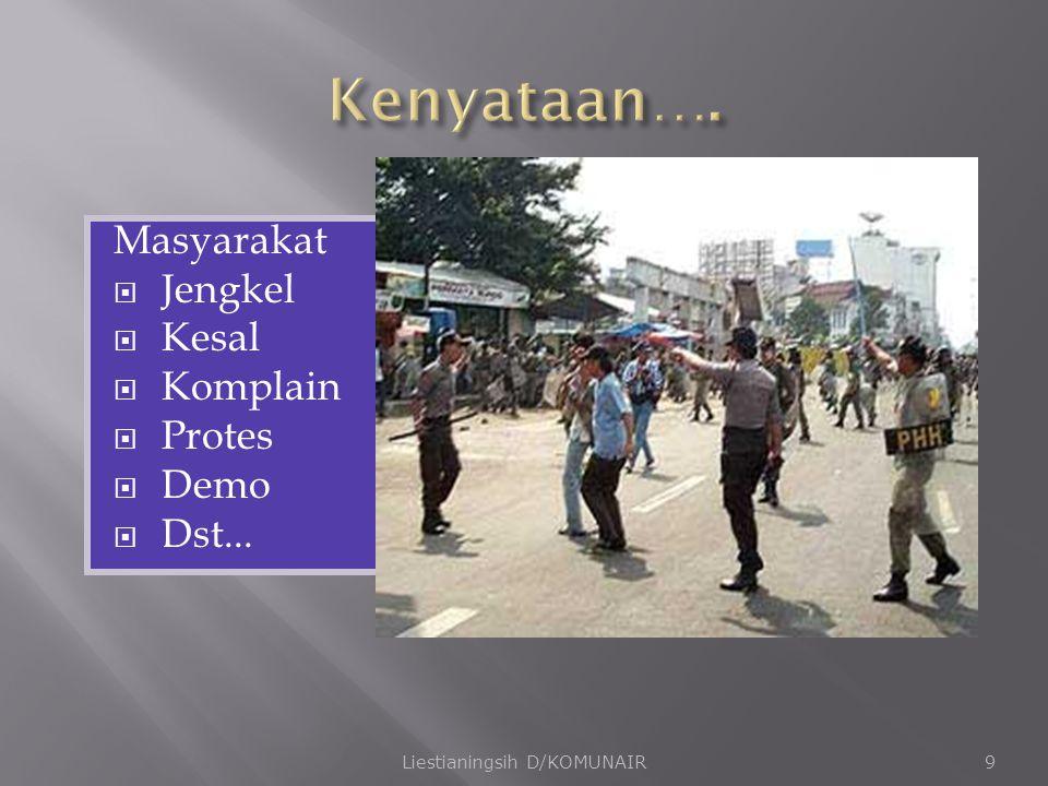 Masyarakat  Jengkel  Kesal  Komplain  Protes  Demo  Dst... Liestianingsih D/KOMUNAIR9