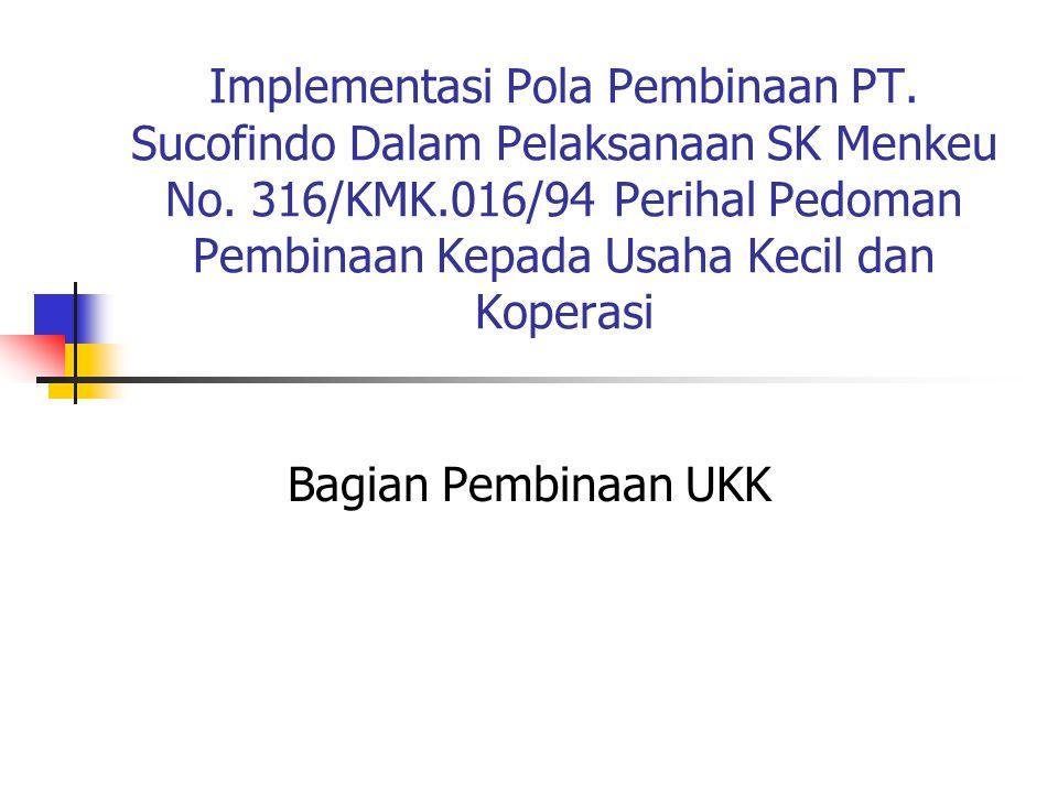 Implementasi Pola Pembinaan PT. Sucofindo Dalam Pelaksanaan SK Menkeu No. 316/KMK.016/94 Perihal Pedoman Pembinaan Kepada Usaha Kecil dan Koperasi Bag