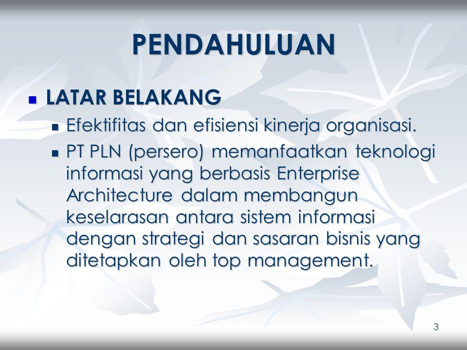 4 IDENTIFIKASI MASALAH 1.Mengapa Enterprise Architecture dibutuhkan oleh PT PLN (persero).