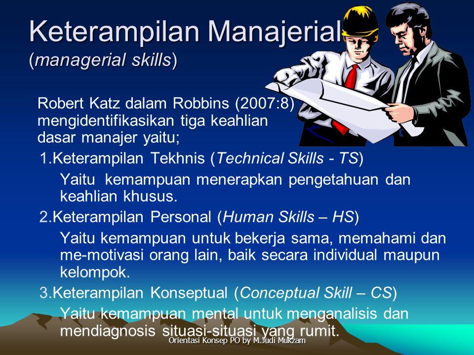 Keterampilan Manajerial (managerial skills) 1.Keterampilan Tekhnis (Technical Skills - TS) Yaitu kemampuan menerapkan pengetahuan dan keahlian khusus.