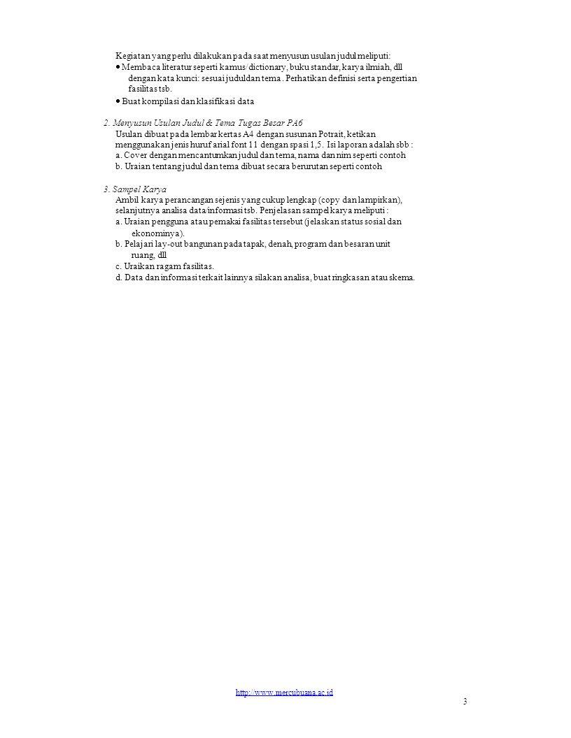 Contoh Uraian Proposal Judul dan Tema 1.
