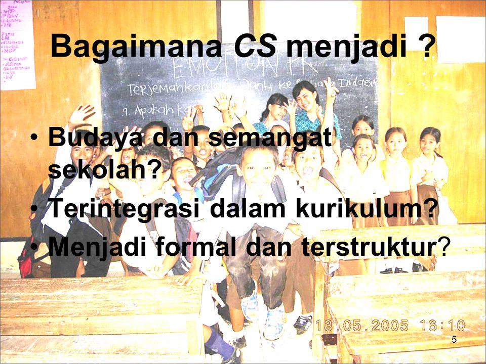 Bagaimana CS menjadi . Budaya dan semangat sekolah.