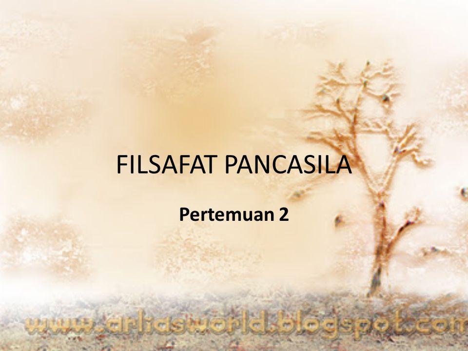 Deskripsi Filsafat Pancasila Filsafat pancasila adalah suatu system atau aliran kefilsafatan kebangsaan Indonesia yang bersumber pada sejarah, budaya tradisi, dan lingkungan.