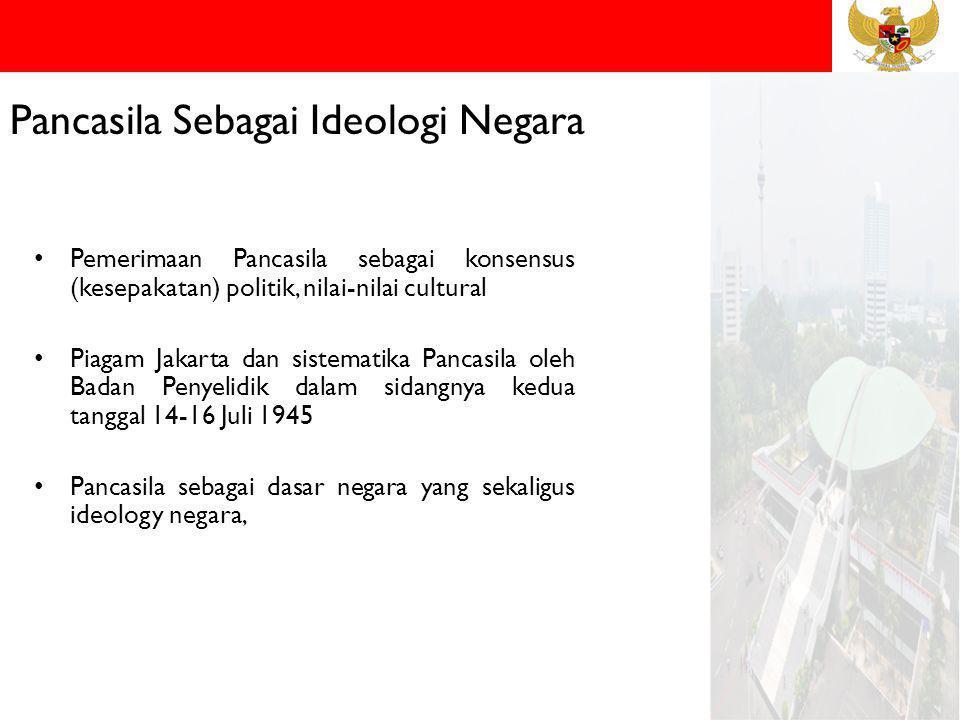 Batas Keterbukaan Ideologi Pancasila Stabilitas nasional yang dinamis, Larangan marxisme, Lenninisme dan komunisme Mencegah paham liberal Penciptaan norma baru melalui consensus.