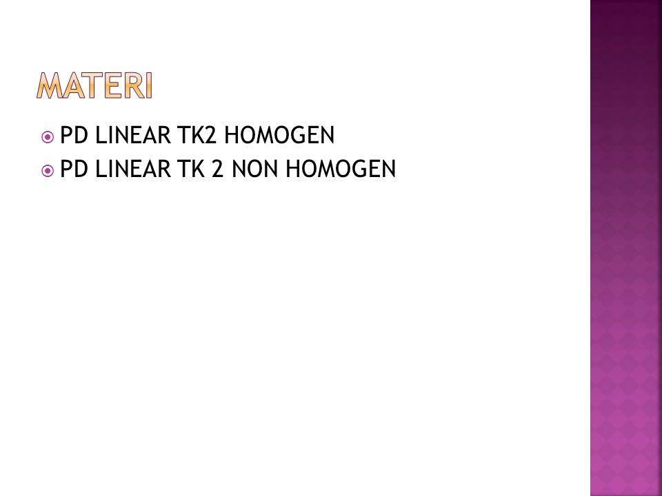  PD LINEAR TK2 HOMOGEN  PD LINEAR TK 2 NON HOMOGEN