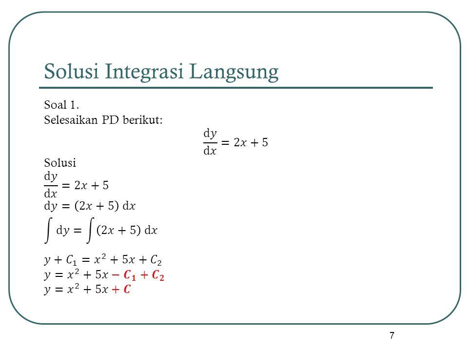 Solusi Integrasi Langsung 7