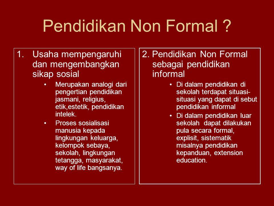 Pendidikan Non Formal .