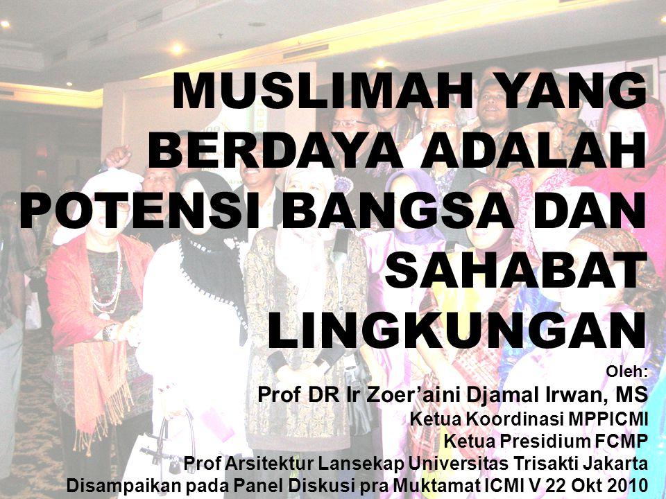 8.Gender yang diharapkan dari ICMI adalah Gender yang sifatnya Islami.