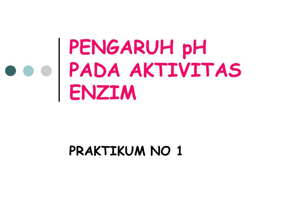 PENGARUH pH PADA AKTIVITAS ENZIM PRAKTIKUM NO 1