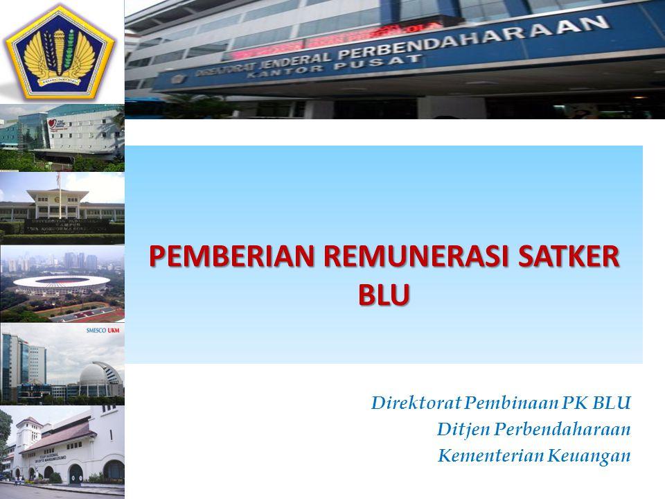 PEMBERIAN REMUNERASI SATKER BLU Direktorat Pembinaan PK BLU Ditjen Perbendaharaan Kementerian Keuangan