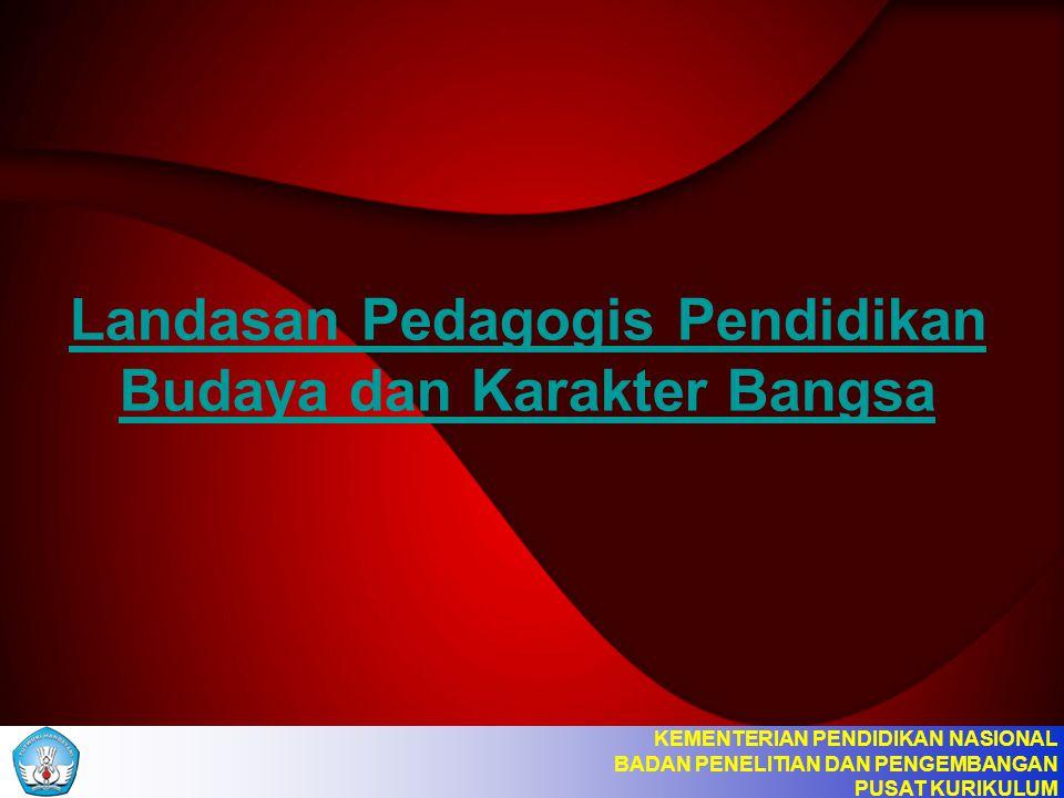 Landasan Pedagogis Pendidikan Budaya dan Karakter Bangsa KEMENTERIAN PENDIDIKAN NASIONAL BADAN PENELITIAN DAN PENGEMBANGAN PUSAT KURIKULUM