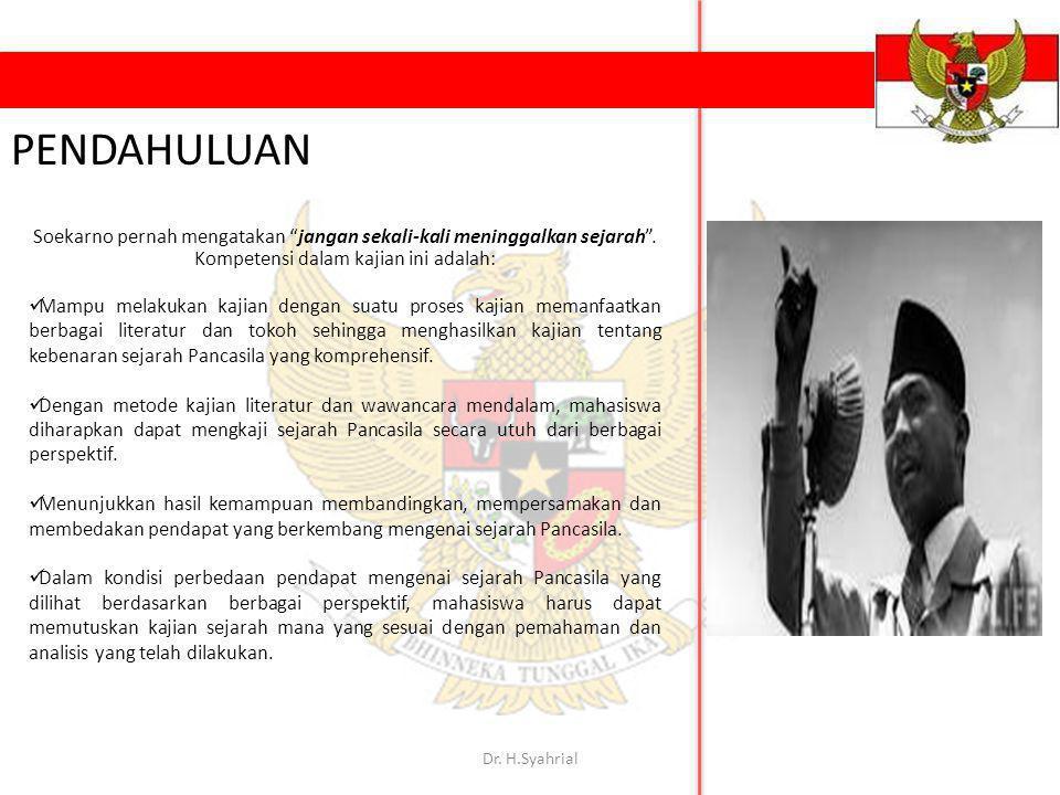 "Soekarno pernah mengatakan ""jangan sekali-kali meninggalkan sejarah"". Kompetensi dalam kajian ini adalah: Mampu melakukan kajian dengan suatu proses k"