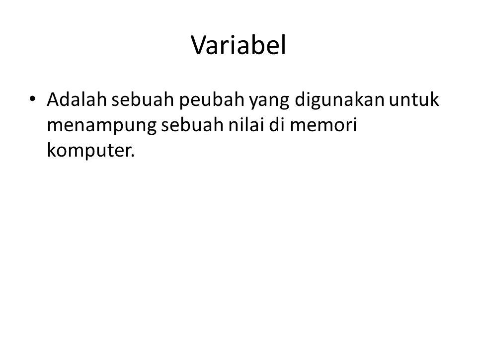 Contoh Variabel DECLARE X integer; Alamat varchar2(40); No_induk char(8);.....