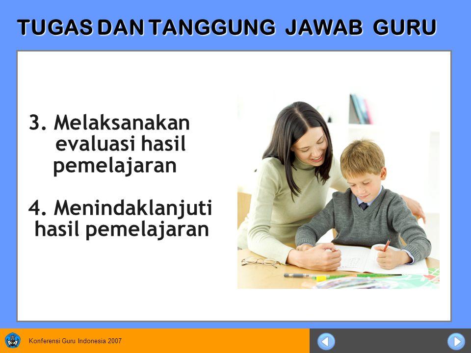 Konferensi Guru Indonesia 2007 TUGAS DAN TANGGUNG JAWAB GURU 3.
