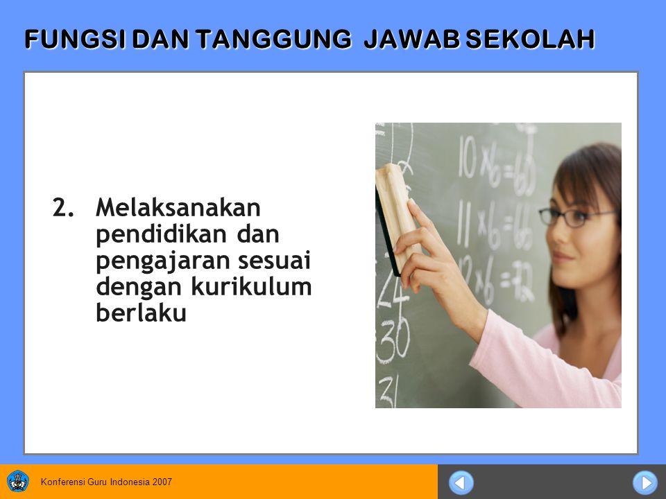 Konferensi Guru Indonesia 2007 TANGGUNG JAWAB TATA USAHA 4.