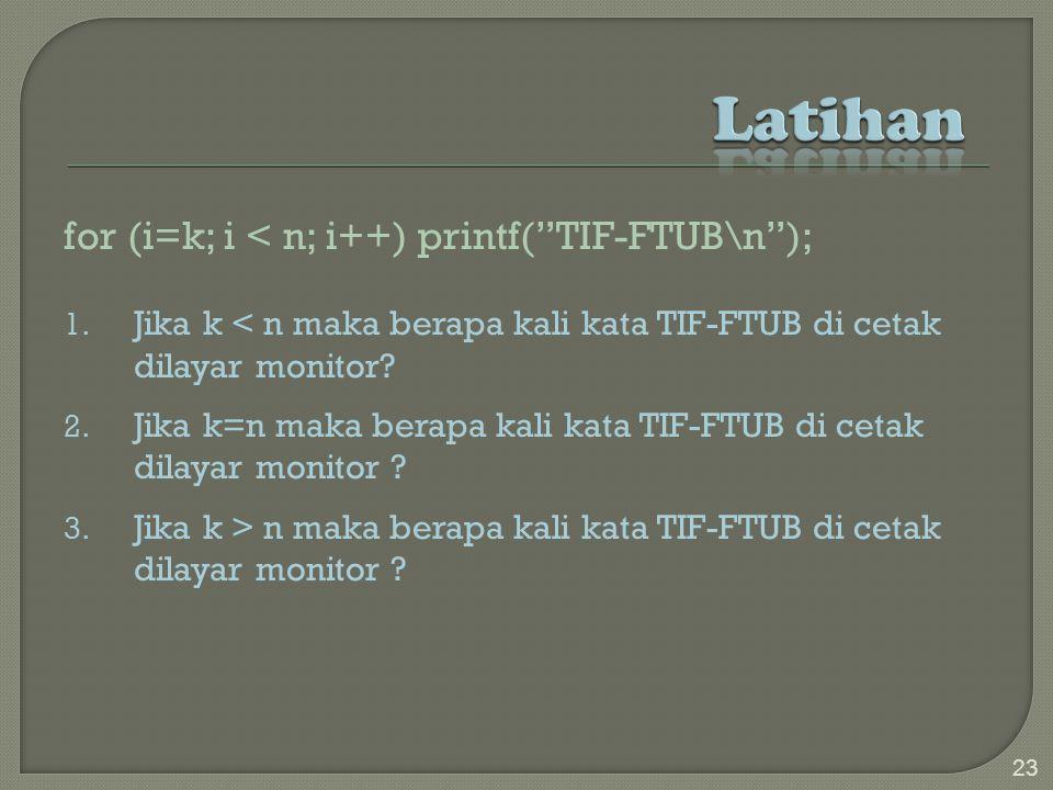for (i=k; i < n; i++) printf( TIF-FTUB\n ); 1.